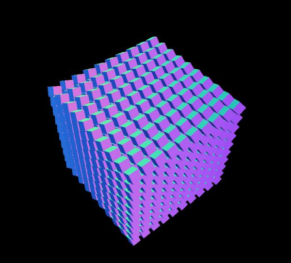 1000 Cubes | WebGL Experiments